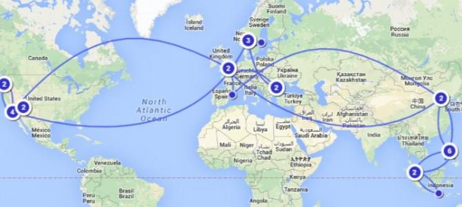 Calatorie in jurul lumii cu mai putin de 1000 de euro de persoana